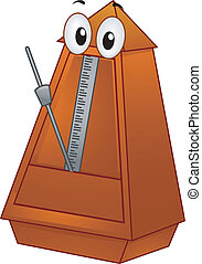 Metronome Mascot - Mascot Illustration of a Metronome with a...