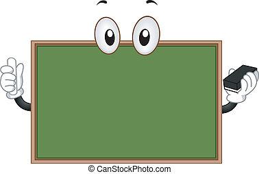 Blackboard Mascot - Mascot Illustration of a Blackboard...