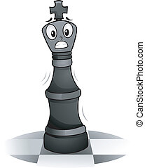 Chess King Mascot - Mascot Illustration of a Chess King...