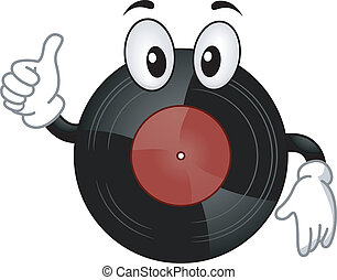 Vinyl Record Mascot - Mascot Illustration of a Vinyl Record...