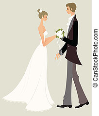 Bride and bridegroom  - Bride and bridegroom
