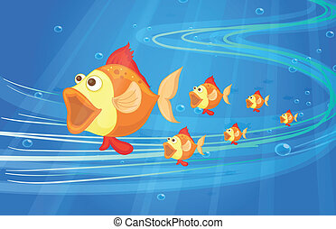 fish - illustration of under water fish