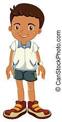 a boy - illustration of a boy on a white background