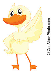 a duck - illustration of a duck on a white background