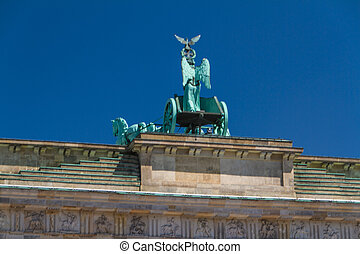 The Brandenburger Tor (Brandenburg Gate) is the ancient gateway to Berlin, Germany