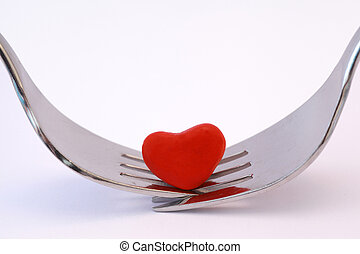 Dining for two - Symbolizing romantic meal for two with two...