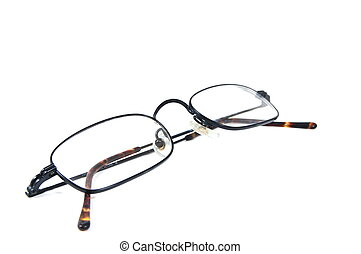 eyeglasses isolated on whte backround. Brille auf wei�em...