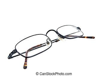 eyeglasses isolated on whte backround. Brille auf wei�em...