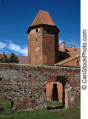 The old castle in Malbork - Poland.