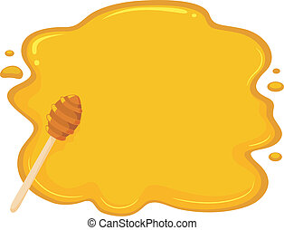 Honey Background - Background Illustration of Honey Drop...