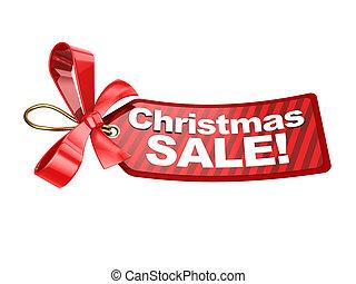 christmas sale tag - 3d illustration of christmas sale tag,...