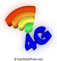 4G and signal symbol