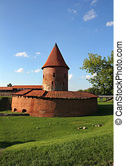 Old castle in Kaunas, Lithuania. - Old Gothic castle in...
