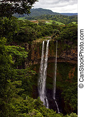 chamarel in the isle of mauritius - chamarel falls in the...
