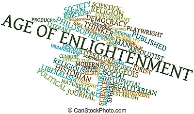 Age of Enlightenment - Abstract word cloud for Age of...