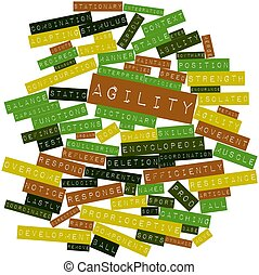 Agility - Abstract word cloud for Agility with related tags...