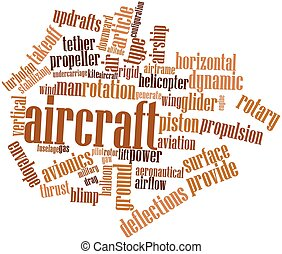 Aircraft - Abstract word cloud for Aircraft with related...