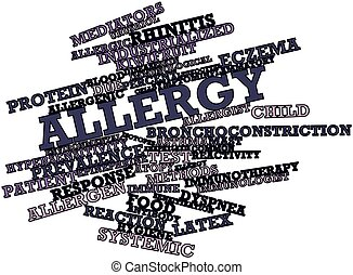 Allergy - Abstract word cloud for Allergy with related tags...