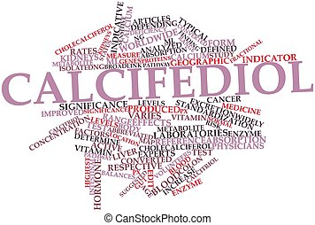 Calcifediol - Abstract word cloud for Calcifediol with...