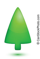 Gree christmas tree on white