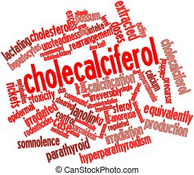 Word cloud for Cholecalciferol - Abstract word cloud for...
