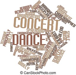 Concert dance - Abstract word cloud for Concert dance with...