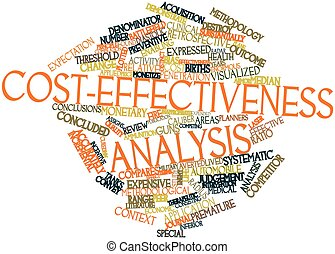 Cost-effectiveness analysis - Abstract word cloud for...
