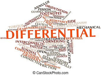 Differential - Abstract word cloud for Differential with...