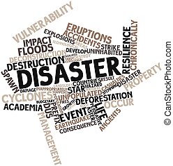 Disaster - Abstract word cloud for Disaster with related...