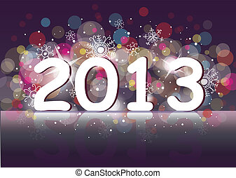 New year 2013 two thousand and thirteen