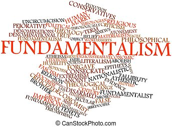 Fundamentalism - Abstract word cloud for Fundamentalism with...