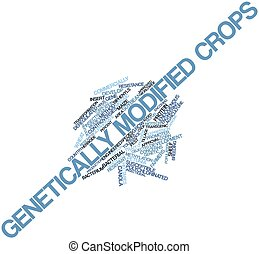 Word cloud for Genetically modified crops - Abstract word...