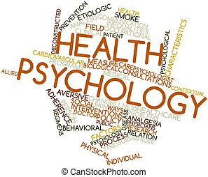 Health psychology - Abstract word cloud for Health...