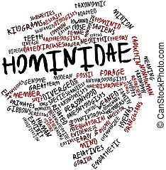 Word cloud for Hominidae - Abstract word cloud for Hominidae...