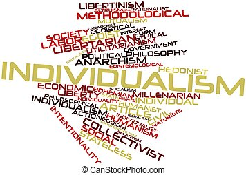 Individualism - Abstract word cloud for Individualism with...