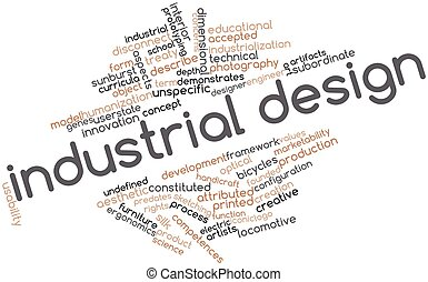 Industrial design - Abstract word cloud for Industrial...