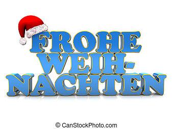 Frohe Weihnachten - Schriftzug frohe Weihnachten mit einer...