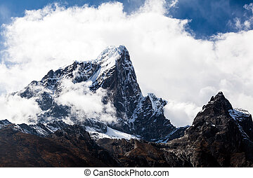 Himalaya mountains landscape, Nepal - Taboche mountain in...