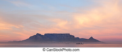 Table mountain at night - Picture taken from the beach of...
