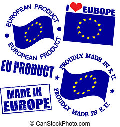 Product of Europe stamps