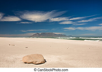 From Big bay to Table Mountain - Picture taken from the...