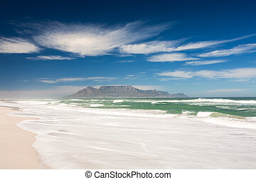 Picture of Table Mountain. - Picture taken from the beach of...