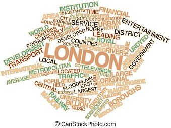 Word cloud for London - Abstract word cloud for London with...
