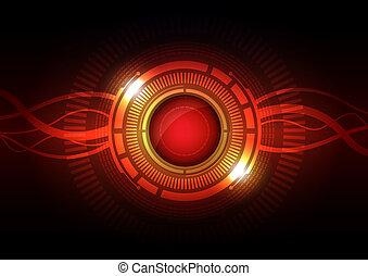 abstract hi-tech button