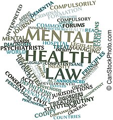 Word cloud for Mental health law - Abstract word cloud for...