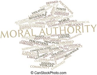 Moral authority - Abstract word cloud for Moral authority...