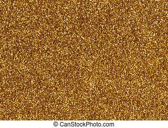 Gold glitter macro texture close up background.