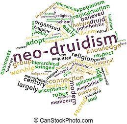 Word cloud for Neo-Druidism - Abstract word cloud for...