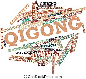Word cloud for Qigong - Abstract word cloud for Qigong with...