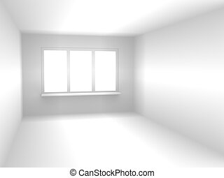 Abstract room of white color - Abstract 3d room of white...